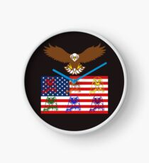 USA Family Clock