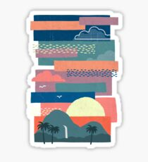 Tropical Skies Sticker