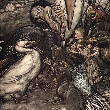 Scene from Alice in Wonderland - Arthur Rackham by Geekimpact