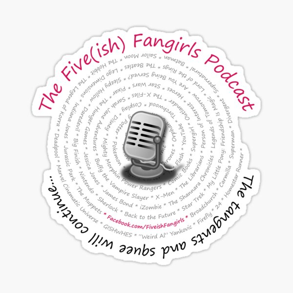 Five(ish) Fangirls Classic Logo Sticker