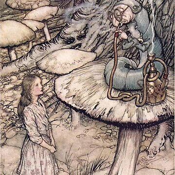 The Caterpillar - Alice in Wonderland Arthur Rackham by Geekimpact
