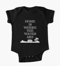 HOME IS WHERE THE WAVES ARE One Piece - Short Sleeve