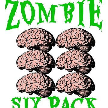 Halloween Zombie Body Builder, Six Pack Workout Shirt. by CliqueBank