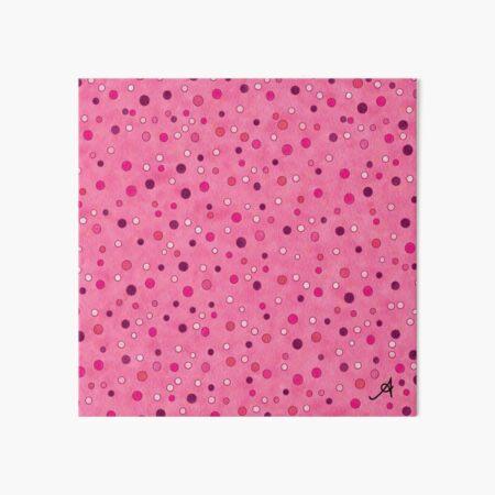 Watercolour Spots Pink Amanya Design Art Board Print