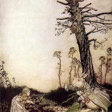 Alice and the White Rabbit  - Arthur Rackham by Geekimpact