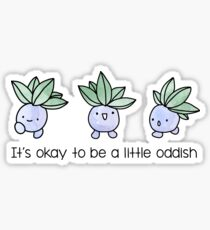 A Little Oddish Sticker