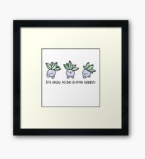 A Little Oddish Framed Print