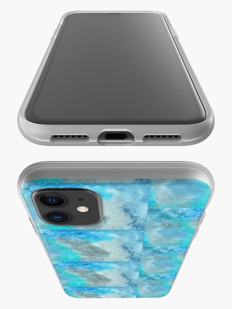 Alternate view of Small Blue Watercolor Bleed Painting iPhone Case & Cover