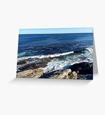 Ocean at Two Lights State Park, Cape Elizabeth, Maine Greeting Card