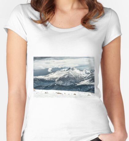 First View Longs Peak Women's Fitted Scoop T-Shirt