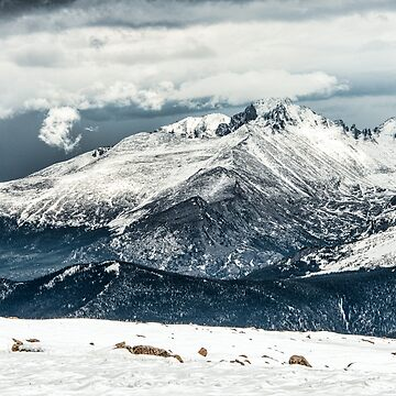 First View Longs Peak by nikongreg