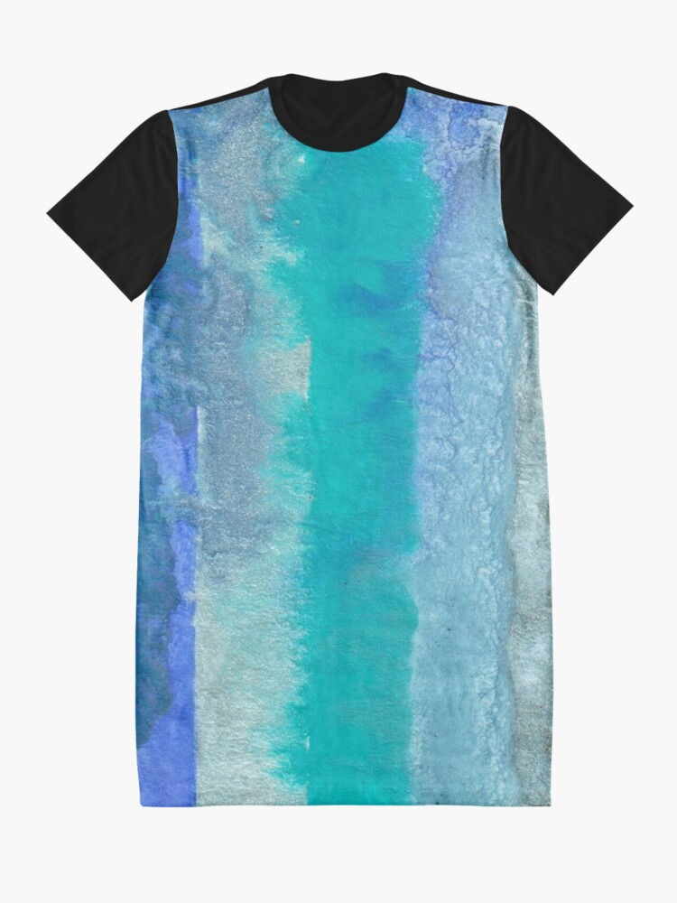 Alternate view of Large Watercolor Stripes digitized original watercolor painting Graphic T-Shirt Dress
