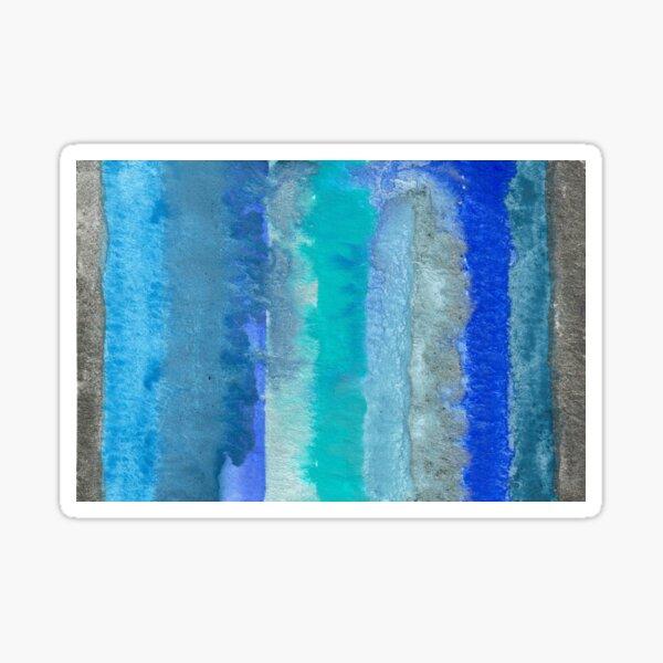 Large Watercolor Stripes digitized original watercolor painting Sticker