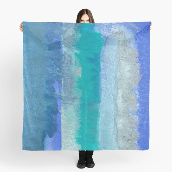 Large Watercolor Stripes digitized original watercolor painting Scarf