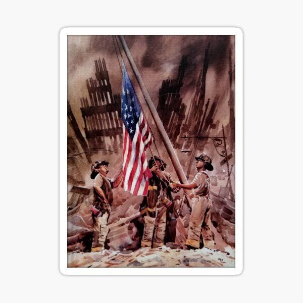 9/11 NYPD and FDNY, Heroes of our Time Sticker