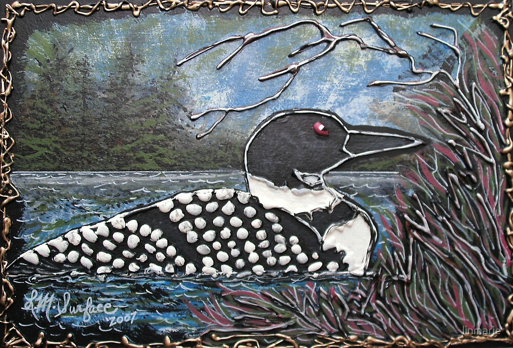 Loon At The Pines by linmarie