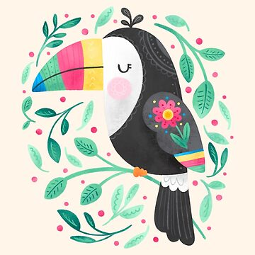Cute Tropical Toucan by noondaydesign