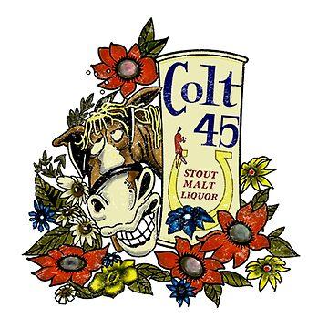colt 45 retro shirt by cseely