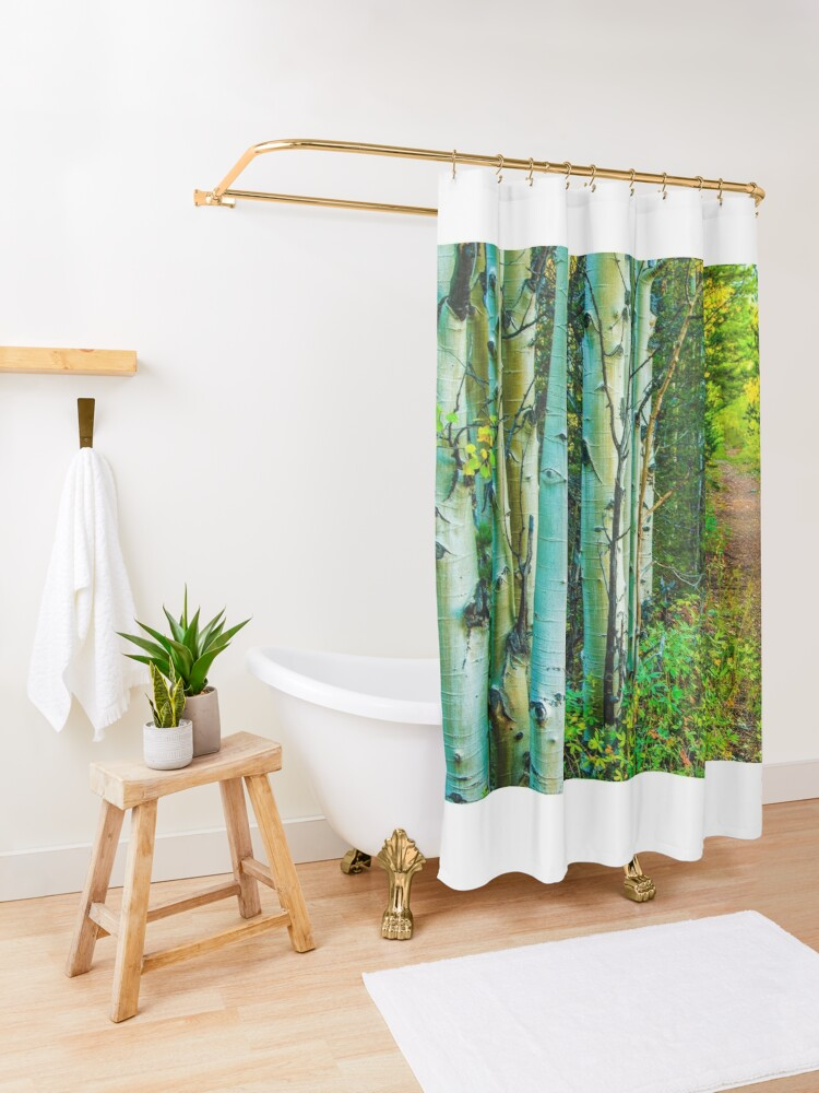 Alternate view of The Way Home Shower Curtain