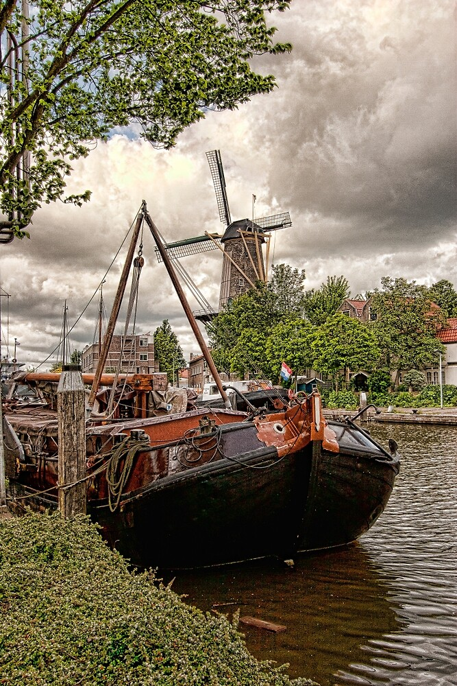 Clouds Over Gouda Holland by Hugh Smith