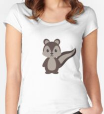 Woodland Squirrel Women's Fitted Scoop T-Shirt