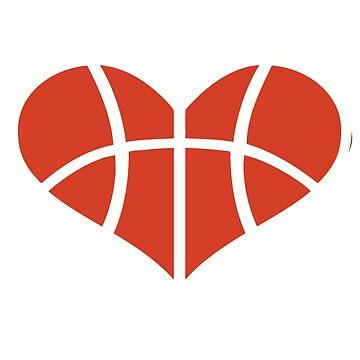 Basketball heart by Designzz