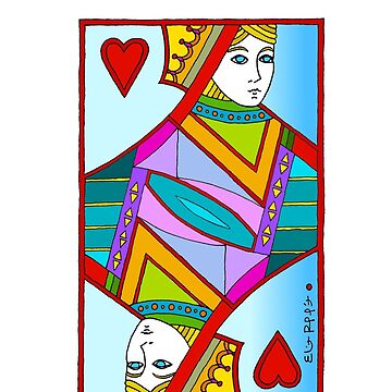 Queen of Hearts by Eliot Raffit Painting Love by EliotRaffit