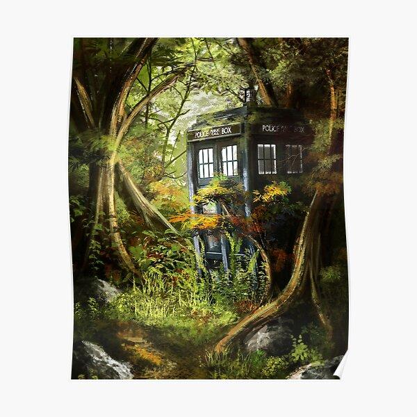 Wooden Tardis Poster