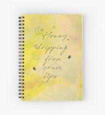 Cuaderno de espiral Miel que gotea de tus labios