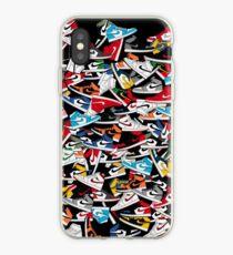 Jordan 1 Sneakers Colorways Pattern iPhone Case