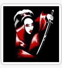 Girl with Katana Sword Sticker
