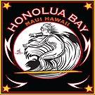 HONOLUA BAY MAUI HAWAII SURFING by Larry Butterworth