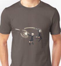 Nier Automata 2B & 9S Pixel Art Slim Fit T-Shirt