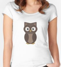 Woodland Owl Women's Fitted Scoop T-Shirt
