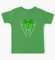 St. Patricks Day Irish lustiges Smokingkostüm Pub Kinder T-Shirt