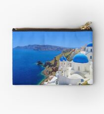 Santorini island, Greece Zipper Pouch