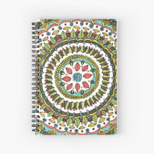 Leaf Mandala Spiral Notebook
