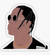 Travis Cartoon Sticker