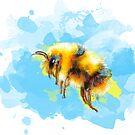 Bumble Away, Bumble Bee by floartstudio
