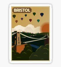 Bristol Travel Poster Sticker