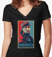Omar Indeed Women's Fitted V-Neck T-Shirt
