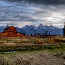 Barn and Mountains by John  Sperry