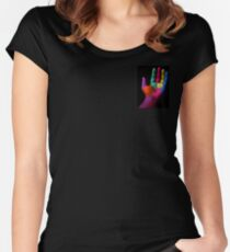 Colorful Hands Women's Fitted Scoop T-Shirt