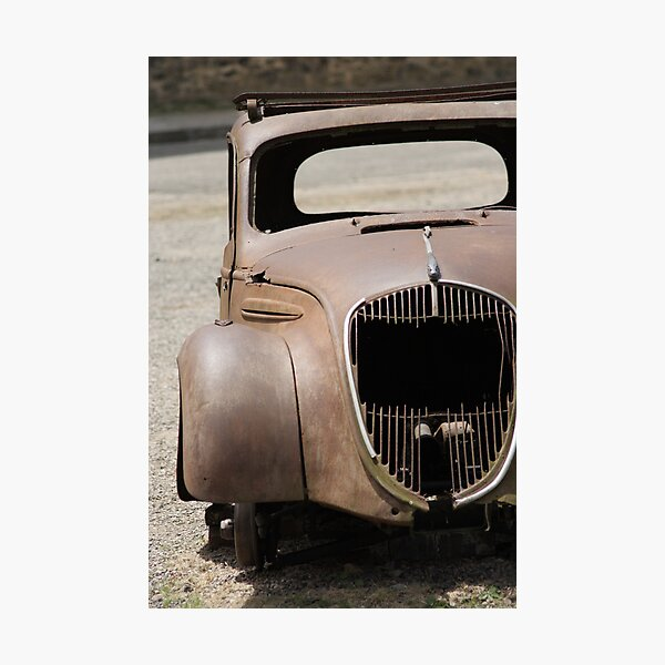 The haunting car Photographic Print
