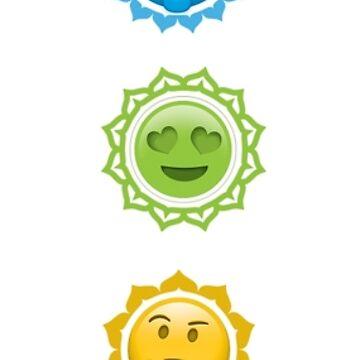 Chakras Emoji Style by robinherrick