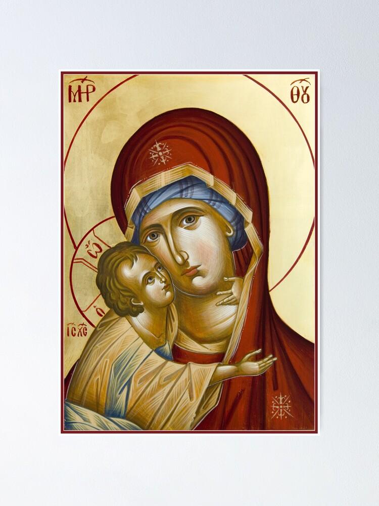 Alternate view of Theotokos Poster