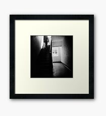 Going up stairs Framed Print