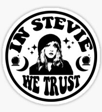 in stevie we trust  Sticker