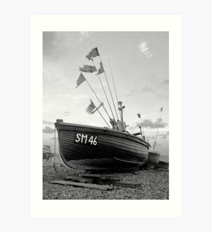 ...teach a man to fish (monochrome)... Art Print
