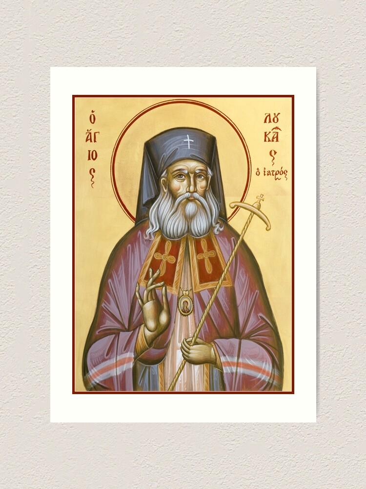 Alternate view of St Luke the Surgeon of Simferopol Art Print